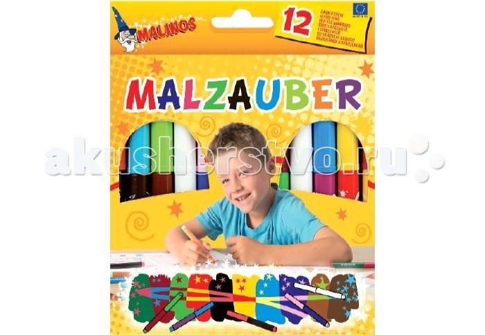 Фломастеры Malinos Магические 12 шт.