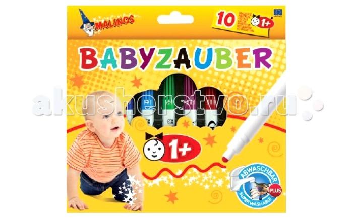 Фломастеры Malinos Для малышей от 1 года 10 шт.Для малышей от 1 года 10 шт.Malinos Фломастеры Для малышей от 1 года 10 шт.  Общеизвестный факт, что рисование с самого меленького возраста имеет огромное влияние на развитие ребенка. С помощью рисования развивается мелкая моторика пальчиков рук, что благотворно отражается на речи малыша.   Развивается воображение, мышление, фантазия и тренируется память. Так же рисование влияет на усидчивость, внимательность и терпение маленького художника.<br>