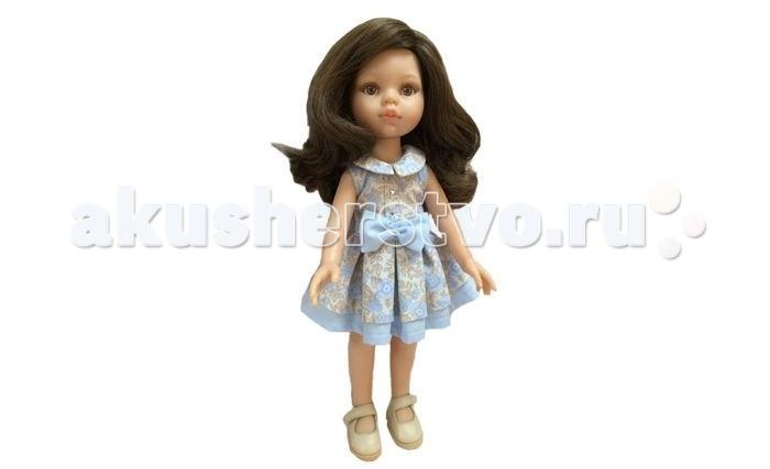 Paola Reina Кукла Кэрол 32 смКукла Кэрол 32 смКукла Paola Reina Кэрол 32 см - новинка 2016 года.   Особенности:   уникальный дизайн лица, ручная работа при изготовлении ресниц, веснушек, щечек, губ, прически;   детали лица тщательно проработаны;   «ямочки» на коленках;   на пальчики рук можно одевать колечки;   руки, голова и ноги - подвижны;   глаза куклы не закрываются;   имеет нежный ванильный аромат (гипоаллергенна)    Качество подтверждено нормами безопасности EN17 ЕЭС.   Материалы: кукла изготовлена из винила, глаза выполнены из прозрачного твердого пластика, волосы сделаны из высококачественного нейлона.   Высота: 32 см<br>