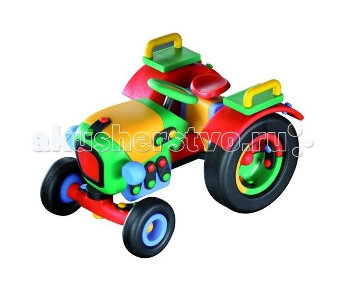 Конструктор Mic-o-mic Конструктор ТракторКонструктор ТракторMic-o-mic Конструктор Трактор  предназначен для самостоятельной сборки модели трактора.   После долгого творческого процесса будет создана своими рукам занимательная разноцветная игрушка из пластика. Это действующая модель с вращающимися колесами, поэтому ребенок сможет использовать ее для разнообразных игр в дальнейшем.   Специальный инструмент поможет малышу прочно закрепить все эти многочисленные детали на предназначенные им места.   Возраст: от 5 лет.  Материал: пластик.  Размер: размер: 18,5 x 12,7 x 10,7 см.  В наборе: 51 конструктивных элементов, 22 пластин, 44 кнопок.<br>