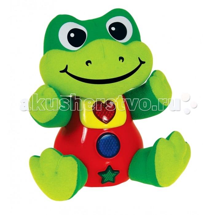 Развивающая игрушка Learning Journey Умный лягушонокУмный лягушонокLearning Journey Развивающая игрушка Умный лягушонок станет прекрасным подарком для любого ребенка от 3 лет. Она представляет собой мягкую игрушку в виде милого зеленого с красным лягушонка, который обладает большим функционалом. Если нажать на кнопочки на его животе, будут раздаваться различные звуки и мелодии, а также загораться лампочки.  Возраст: от 3 лет Наличие батареек: в комплекте Тип батареек: 2 x AA / LR6 1.5V (пальчиковые) Эффекты: со световыми и звуковыми эффектами.<br>