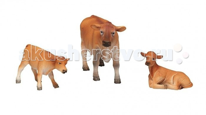 Mojo Набор игровых фигурок Animal Planet малый 3 шт. Джерсийские Коровы