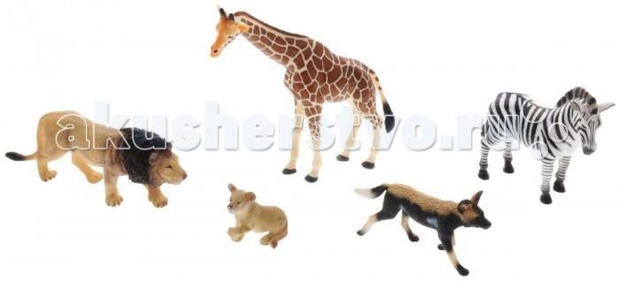 Mojo Набор игровых фигурок Animal Planet 5 шт. Дикие животныеНабор игровых фигурок Animal Planet 5 шт. Дикие животныеНабор игровых фигурок Animal Planet малый 5 шт. Дикие животные  Фигурки MOJO знакомят детей с окружающим миром, развивают творческие способности и расширяют возможности ролевых игр.   Фигурки имеют высокую степень сходства с настоящими лесными животными и очень высокую детализацию, что позволяет использовать фигурки не только как игровые, но и как коллекционные. Кроме того, фигурки можно использовать в качестве наглядного пособия при изучении животного мира.  Фигурка изготовлена из полимерного материала, не токсична и не вызывает аллергию.<br>