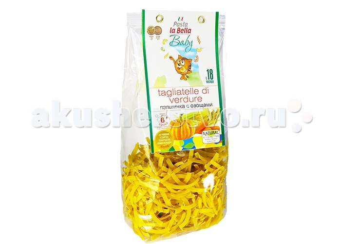 Pasta la Bella Baby Макароны Лапшичка с овощами 250 г