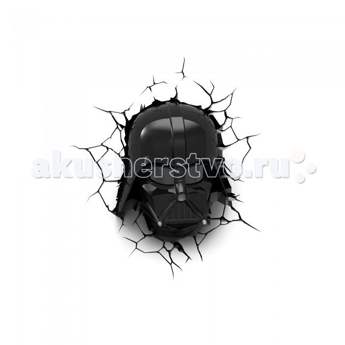 Светильник 3DlightFX Пробивной 3D светильник StarWars (Звёздные Войны) Маска Darth Vader (Дарт Вейдер)Пробивной 3D светильник StarWars (Звёздные Войны) Маска Darth Vader (Дарт Вейдер)Пробивной 3D светильник StarWars (Звёздные Войны) Маска Darth Vader (Дарт Вейдер). Безопасный: без проводов, работает от батареек (3хАА, не входят в комплект); Не нагревается: всегда можно дотронуться до изделия; Реалистичный:3D наклейка-имитация трещины в комплекте; Фантастический: выглядит превосходно в любое время суток; Удобный: простая установка (автоматическое выключение через полчаса непрерывной работы). Товар предназначен для детей старше 3 лет. ВНИМАНИЕ! Содержит мелкие детали, использовать под непосредственным наблюдением взрослых.   Основные характеристики:   Размеры: 27.9 х 33.4 х 13.3 см Вес: 0,92 кг<br>