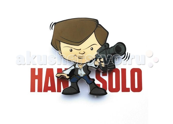 Светильник 3DlightFX Пробивной мини 3D StarWars (Звёздные Войны) Han Solo (Хан Соло)