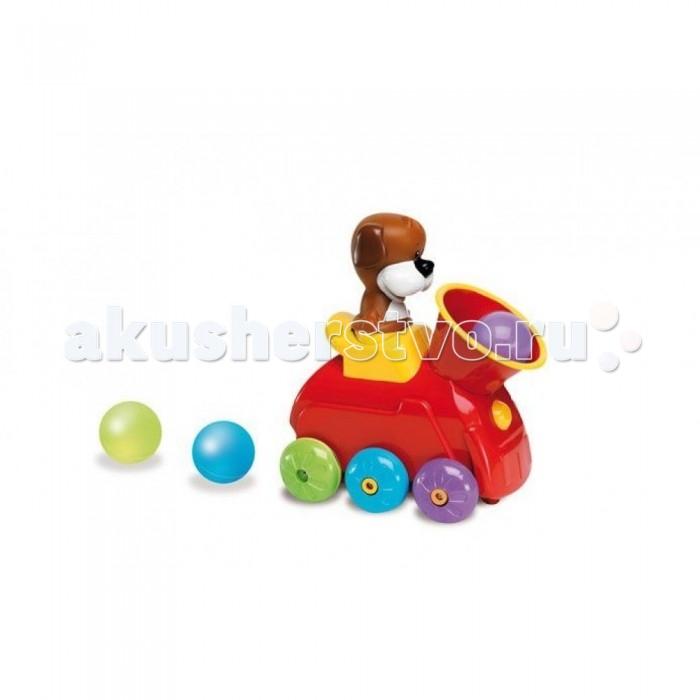 Интерактивная игрушка Learning Journey Паровоз в наборе с шариками звуковые и световые эффектыПаровоз в наборе с шариками звуковые и световые эффектыLearning Journey Паровоз в наборе с шариками звуковые и световые эффекты  Для того чтобы паровоз начал движение вперед под веселую музыку, малышу нужно сначала закинуть все шарики в трубу и нажать на собачку. В процессе движения шарики будут вылетать из паровоза, и если они закончатся, то паровоз остановиться, поэтому малыш должен все время следовать за них и забрасывать шарики в трубу. Все действия паровозика будут сопровождаться веселой песенкой, различными фразами или звуковыми эффектами. Игрушка развивает координацию движения, ловкость, мелкую моторику и воображение.  Громкость звуковых эффектов можно регулировать.  В наборе: паровозик. Длина паровозика: 17 см. Возраст: 6 мес+.<br>