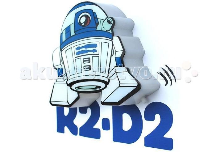 Светильник 3DlightFX Пробивной мини 3D StarWars (Звёздные Войны) R2-D2 (Артудиту)