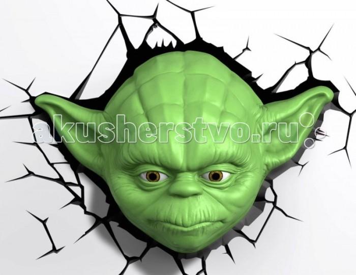 Светильник 3DlightFX Пробивной 3D StarWars (Звёздные Войны) Yoda (Йода)