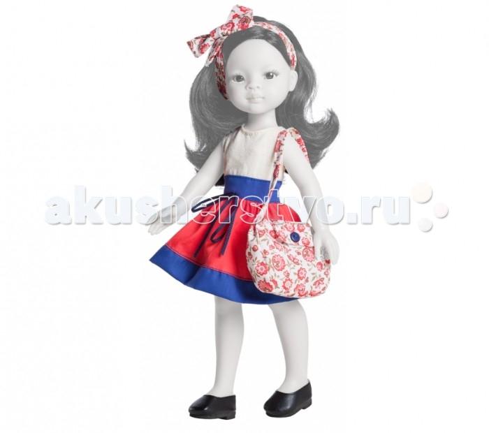 Paola Reina Комплект одежды для куклы Лиу 32 смКомплект одежды для куклы Лиу 32 смКомплект одежды Paola Reina для куклы Лиу  Порадуй свою любимую подружку-куколку новым модным образом.    В наборе:    платье,  повязка на голову,  туфли,  сумочка.   Размер: 32 см<br>