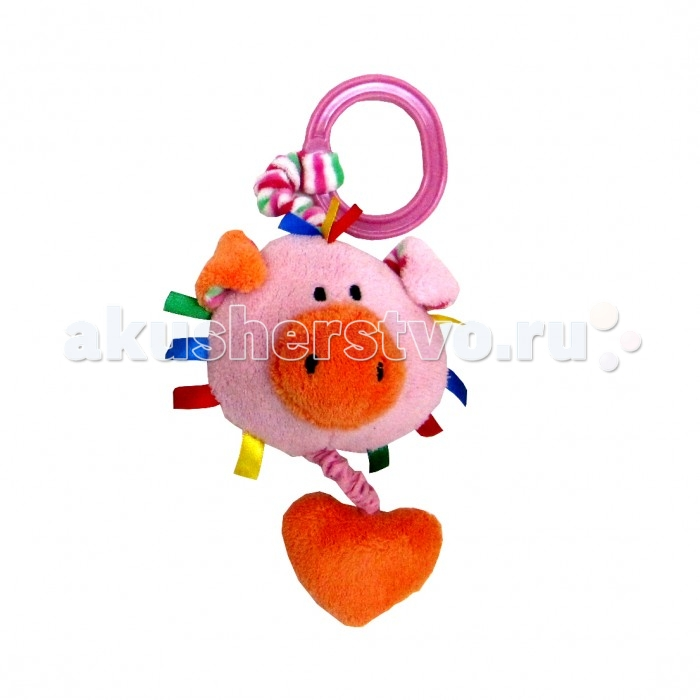 Подвесная игрушка Cool Toys Развивашки Хрюша 8 смРазвивашки Хрюша 8 смМягкая игрушка-подвеска из серии Развивашки - это восьмисантиметровый поросенок Хрюша. Такую яркую игрушку можно подвесить на кроватку, коляску, стульчик для кормления; Хрюша будет привлекать внимание малыша, что положительно скажется на развитии самых основных навыков. Кроме того, в игрушке есть и погремушка, звук которой точно надолго увлечет ребенка.  Основные характеристики:   Размер упаковки: 12 х 8 х 12 см Вес: 0,05 кг<br>