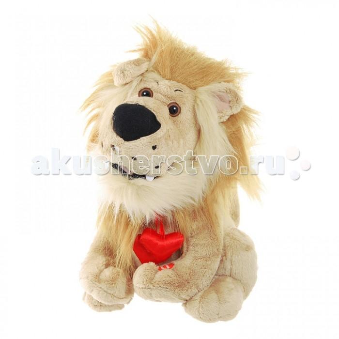 Мягкая игрушка Ваш подарок Поющее Львиное сердцеПоющее Львиное сердцеВаш подарок Интерактивная игрушка Поющее Львиное сердце– это забавная поющая игрушка, выполненная в виде милого плюшевого львенка с роскошной гривой и очаровательной кисточкой на хвосте. На шее у него висит блестящий красный кулон-сердечко. Если нажать на кнопку, расположенную на левой лапке зверька, он исполнит старый добрый хит Крутится, вертится шар голубой. Во время своего выступления поющий лев забавно двигает головой и открывает рот синхронно словам. Эта поющая мягкая игрушка станет приятным подарком для любой женщины!  В высоту лев достигает 29 см.  Работает от 3-х батареек АА.<br>