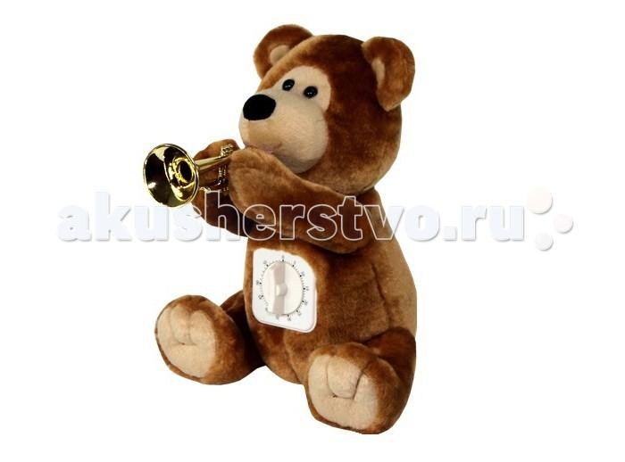 Мягкая игрушка Ваш подарок Поющий Медвежонок с таймеромПоющий Медвежонок с таймеромВаш подарок Интерактивная игрушка Поющий Медвежонок с таймером – не просто забавная музыкальная игрушка, но и невероятно полезная в доме вещь, дисциплинирующая детей и взрослых.   Симпатичный плюшевый мишка держит в лапках горн, а в животик его встроен настоящий таймер. Выставьте на нем нужное время и занимайтесь своими делами. Пунктуальный медвежонок вовремя предупредит вас об окончании стирки, о готовности блюда, о времени принятия лекарства и многом другом.    Максимальное время работы таймера – 1 час.  В высоту игрушка достигает 27 см.  Функционирует от 3-х батареек АА.<br>
