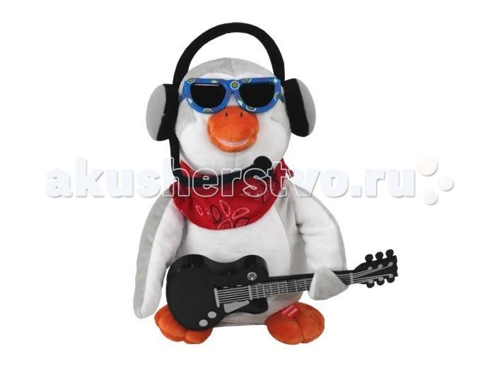 Мягкая игрушка Ваш подарок Поющий Пингвин СеверокПоющий Пингвин СеверокВаш подарок Интерактивная игрушка Поющий Пингвин Северок – настоящая рок-звезда! Он тщательно продумал свой образ: эффектные солнечные очки, наушники с микрофоном, красный платок на шее. Невозможно представить рок-музыканта без гитары. Есть она и у нашего Северка!  Нажмите зверьку на лапку – и он исполнит вам «Серенаду», хит группы «Божья коровка». Во время своего выступления плюшевый пингвин играет на гитаре, энергично покачивается в разные стороны и открывает рот синхронно словам песни.   Эта поющая игрушка станет приятным подарком женщине на любой праздник! А представителям сильного пола она поможет признаться в любви своей избраннице. Романтичный пингвин Северок скажет все за вас!    Для работы изделия необходимы 3 батарейки АА.   В высоту игрушка достигает 25 см.<br>