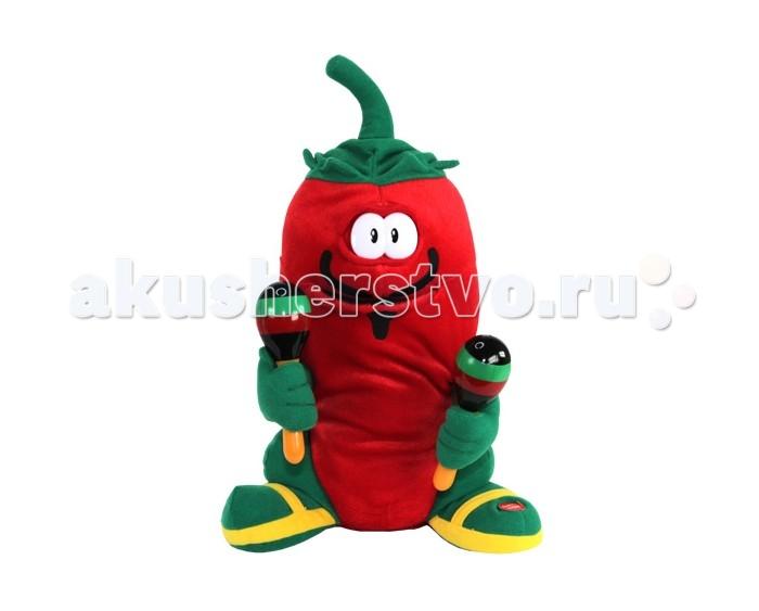 Интерактивная игрушка Ваш подарок Поющий Перчик ГрингоПоющий Перчик ГрингоВаш подарок Интерактивная игрушка Поющий Перчик Гринго - поющая игрушка, выполненная в виде очаровательного красного перчика с маракасами, вызовет улыбку у каждого, кто его увидит. Нажмите кнопку на ножке перчика, и он исполнит задорную песню Кукарача.  Эта очаровательная игрушка станет отличным подарком не только для ребенка, но и взрослого.  Интерактивная игрушка Перчик Гринго исполняет задорную песню для своей возлюбленной.  Во время исполнения он стучит маракасами, открывает рот синхронно словам песни и покачивается влево и вправо в такт музыке. Перчёнок выглядит очень ярко и красочно, а в руках он держит маракасы!  Анимированные игрушки вызывают у детей бурный восторг. Так подарите вашему ребенку бурю эмоций!  Игрушка работает от 3 батареек формата АА, которые не входят в комплект.  Высота игрушки: 37<br>