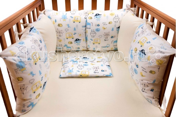 Бампер для кроватки Daisy Пират 6 подушек