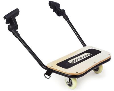 UPPAbaby Подставка-скейт PiggyBack для коляски VistaПодставка-скейт PiggyBack для коляски VistaUPPAbaby Подставка-скейт PiggyBack для коляски Vista.  Теперь ваш старший ребенок может кататься на скейте вместе с вами во время прогулки. Легко крепится к коляске. Удобно поднимается во время прогулки, когда не используется. Коляска может складываться вместе с PiggyBack. Сделана из натурального, экологически-чистого дерева. Не скользящая поверхность не даст упасть Вашему ребенку.  Максимальная нагрузка : 23 кг.  Подставка для колясок 2015 года!<br>