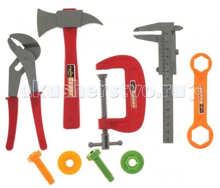 1 Toy Набор инструментов Ну погоди Т58340 (6 предметов)Набор инструментов Ну погоди Т58340 (6 предметов)1 Toy Набор инструментов Ну погоди подарит массу радости и удовольствия Вашему ребёнку.  Особенности: Мальчик в игровой форме узнает, для чего нужны болтики и гайки, что можно отремонтировать при помощи инструментов.   Игрушечные инструменты выглядят как настоящие, поэтому играть в собственную мастерскую будет интересно и весело.  Игрушки изготовлены из прочного пластика ярких цветов, не имеют острых углов и являются безопасными для ребенка.<br>