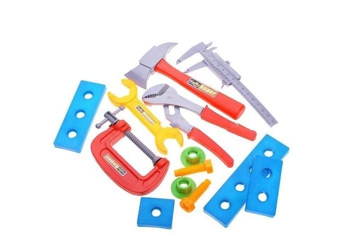1 Toy Набор инструментов Ну погоди Т58341 (7 предметов)Набор инструментов Ну погоди Т58341 (7 предметов)1 Toy Набор инструментов Ну погоди подарит массу радости и удовольствия Вашему ребёнку.  Особенности: Мальчик в игровой форме узнает, для чего нужны болтики и гайки, что можно отремонтировать при помощи инструментов.  Игрушечные инструменты выглядят как настоящие, поэтому играть в собственную мастерскую будет интересно и весело.  Игрушки изготовлены из прочного пластика ярких цветов, не имеют острых углов и являются безопасными для ребенка.<br>