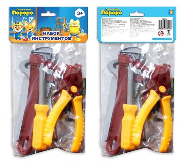 1 Toy Набор инструментов Пингвинёнок Пороро Т58822 (5 предметов)Набор инструментов Пингвинёнок Пороро Т58822 (5 предметов)1 Toy Набор инструментов Пингвинёнок Пороро подарит массу радости и удовольствия Вашему ребёнку.  Особенности: Мальчик в игровой форме узнает, для чего нужны болтики и гайки, что можно отремонтировать при помощи инструментов.   Игрушечные инструменты выглядят как настоящие, поэтому играть в собственную мастерскую будет интересно и весело.  Игрушки изготовлены из прочного пластика ярких цветов, не имеют острых углов и являются безопасными для ребенка.<br>
