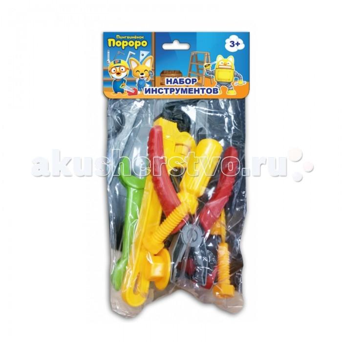 1 Toy Набор инструментов Пингвинёнок Пороро (10 предметов)Набор инструментов Пингвинёнок Пороро (10 предметов)1 Toy Набор инструментов Пингвинёнок Пороро подарит массу радости и удовольствия Вашему ребёнку.  Особенности: Мальчик в игровой форме узнает, для чего нужны болтики и гайки, что можно отремонтировать при помощи инструментов.   Игрушечные инструменты выглядят как настоящие, поэтому играть в собственную мастерскую будет интересно и весело.  Игрушки изготовлены из прочного пластика ярких цветов, не имеют острых углов и являются безопасными для ребенка.<br>