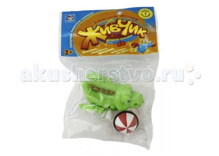 Развивающая игрушка 1 Toy Живчик Заводной крокодил с мячом