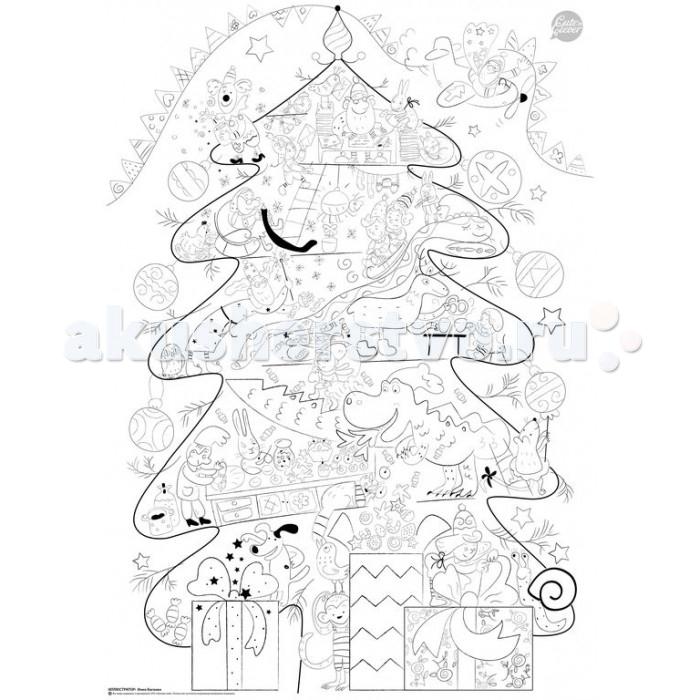 Раскраска Cuten Clever Плакат Волшебная Новогодняя ИсторияПлакат Волшебная Новогодняя ИсторияCuten Clever Плакат-раскраска Волшебная Новогодняя История (формат А1)  Хотите сделать праздничные каникулы яркими?  С огромным плакатом-раскраской Волшебная Новогодняя История - это просто. Повесьте раскраску на стену или разложите на полу, запаситесь цветными карандашами или фломастерами. Смело добавляйте цвета и оживляйте волшебную новогоднюю историю всей семьей!  Размер раскраски - формат А1 (594 &#215; 841 мм)<br>