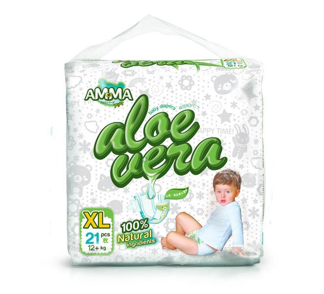 Купить Подгузники Подгузники Aloe Vera (12+ кг) 21 шт.  Подгузники Amma