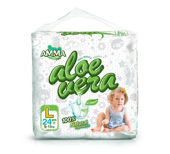 Amma Подгузники Aloe Vera (9-14 кг) 24 шт.