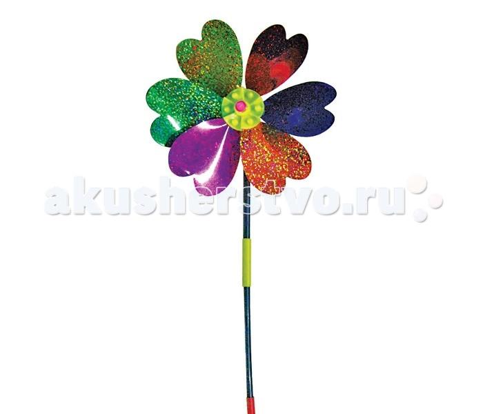 1 Toy Ветрячок ЦветокВетрячок Цветок1 Toy Ветрячок Цветок состоит из пластмассовых деталей разных цветов. Имеет вид полевого цветочка с шестью лепестками, изготовленными из тонкого пластика, переливающегося на свету.   Игрушка предназначена для игр на воздухе, даже слабенький ветерок может заставить крутиться лепестки цветка.<br>