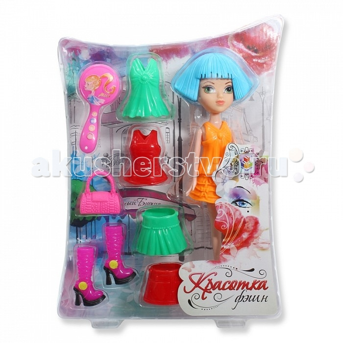 1 Toy Красотка фэшн кукла с аксессуарами Т57128Красотка фэшн кукла с аксессуарами Т571281 Toy Красотка фэшн кукла с аксессуарами - это оригинальные наборы из кукол, одежды и аксессуаров в стиле гламур.   В наборе кукла высотой 24 см со стильными сапожками на высоком каблуке, платьями, юбками, сумочкой и зеркальцем.<br>