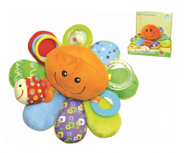 Развивающая игрушка Parkfield Забавный осьминогЗабавный осьминогИгрушка Parkfield Забавный осьминог сшит из цветных материалов с разной фактурой. Это веселый персонаж, который станет для вашего ребенка увлекательным развлечением. Он имеет забавный вид.<br>