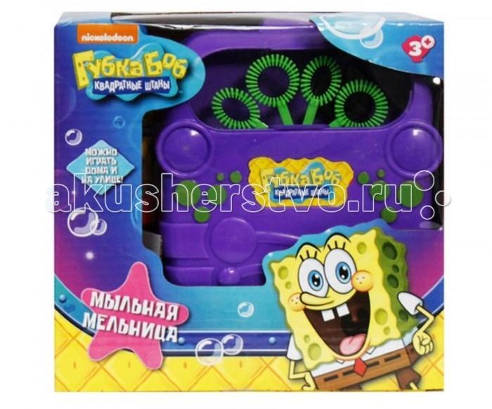1 Toy Машина для пускания мыльных пузырей Губка Боб