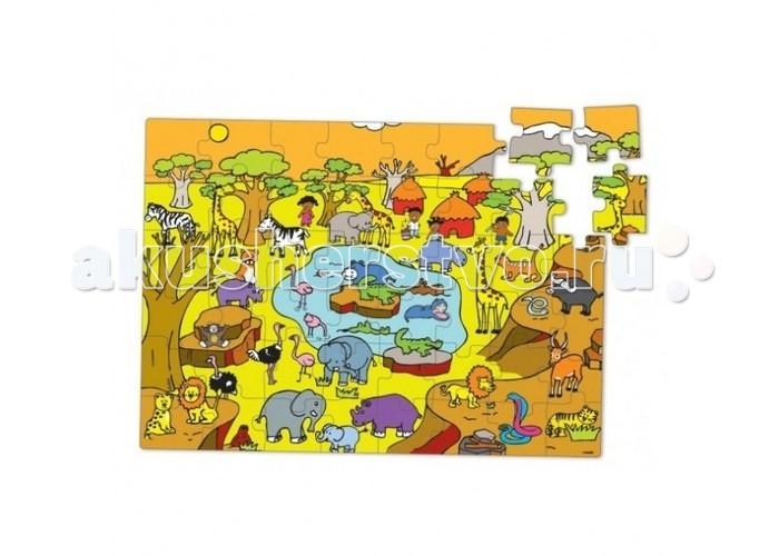 Vilac Пазл Саванна в коробке Жираф 48 элементовПазл Саванна в коробке Жираф 48 элементовVilac Пазл Саванна в коробке Жираф 48 элементов V2548  Пазл Саванна в коробке выполнен в ярких цветах, что обрадует вашего малыша. Состоит набор из 48 деталей, собрав которые, ребята увидят африканскую саванну. Пазлы изготовлены из дерева, что в несколько раз увеличивает срок их службы, ведь они не гнутся, не бьются и не рвутся. Упакована игра в красочную коробку в виде жирафа . Пазлы всегда будут убраны, и вы их не потеряете.   Перед игрой детям надо объяснить, по какому принципу и как соединять элементы, а когда ребята все поймут, то смогут самостоятельно собирать пазлы. Собирая картинки, малыши научатся логически мыслить, тренировать пространственное восприятие и мышление, концентрировать внимание и станут более усидчивыми. Также у детей разовьется моторика и координация движений.<br>