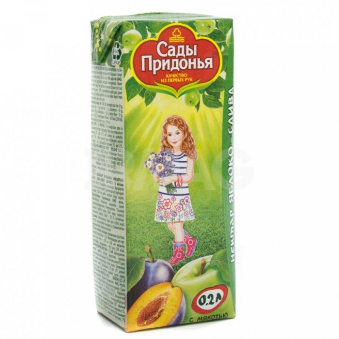 Сады Придонья Сок Яблоко-слива нектар с 5 мес. 200 мл