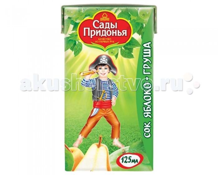 Сады Придонья Сок Яблоко-груша с мякотью с 6 мес. 125 мл