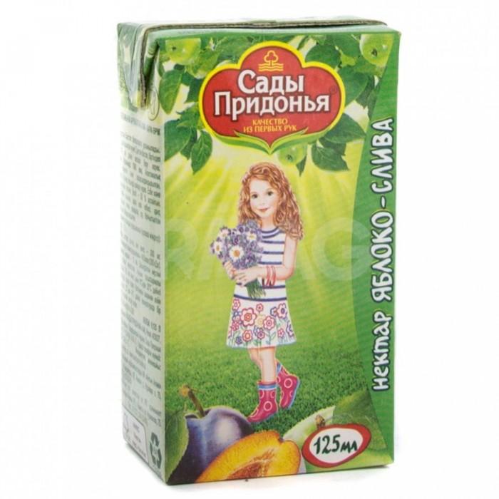 Сады Придонья Сок Яблоко-слива нектар с 5 мес. 125 мл
