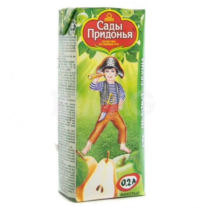 Сады Придонья Сок Яблоко-груша с 5 мес. 200 мл