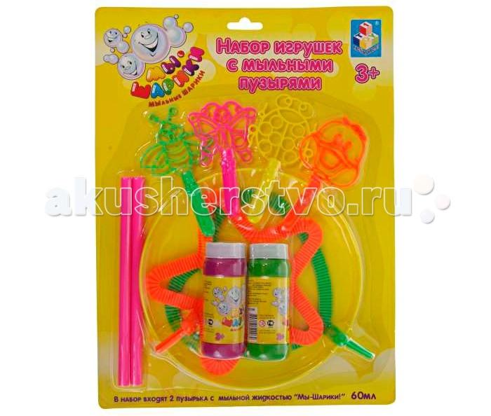 1 Toy Набор игрушек с мыльными пузырями Мы-шарики Насекомые