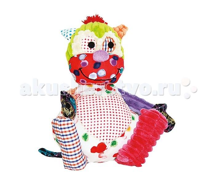 Мягкая игрушка 1 Toy Cuddle Corner Сердцееды Обезьянка 25 смCuddle Corner Сердцееды Обезьянка 25 смМягкая игрушка 1 Toy Cuddle Corner Сердцееды Обезьянка 25 см может стать хорошей игрушкой для детей от трех лет – они смогу долго разглядывать и гладить ее, совершенствую тактильные навыки.   Особенности: Мягкая игрушка из серии Сердцееды изображает милую и забавную обезьянку, которую так и хочется обнять.  Сшита она из тканей различных текстур и цветов и напоминает созданную в стиле пэчворк игрушку. Разнообразная текстура материалов заставляет мозг работать активнее и пробуждает исследовательский интерес. С этой игрушкой можно не только играть, но и спать – веселая мордочка обезьянки прогонит ночные страхи и боязнь темноты, и сон малыша будет спокойнее.<br>