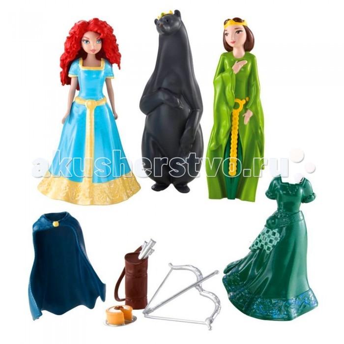 Disney Игровой набор Храбрая сердцем с мини-куклами - Принцесса Мерида и Элинор Мини-замок Мериды