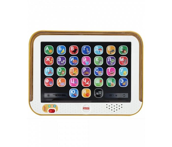 Развивающая игрушка Fisher Price Планшет обучающий Смейся и учись с технологией Smart StagesПланшет обучающий Смейся и учись с технологией Smart StagesПланшет обучающий с технологией Smart Stages - развивающая игрушка, которая поможет вашему малышу выучить алфавит, названия цветов и расширить свой словарный запас. Представляет собой реалистично выполненный планшет с 28 функциональной кнопкой, каждая из которых отвечает за букву, слово или звук. Для удобства и систематизации обучения, здесь предусмотрено 3 уровня, соответствующие определенному этапу развития ребенка.  УРОВНИ ОБУЧЕНИЯ:  Первое знакомство. Нажимая на кнопки ребенок услышит названия животных и предметов, а при повторном нажатии - звуки, которые они издают. Учим буквы и играем. На данном этапе малыш после нажатия на кнопку слышит букву, а при повторном нажатии - название предмета или животного, нарисованного на кнопке. Помимо этого, здесь предусмотрена проверочная игра, во время которой планшет просит найти на экране и нажать на определенную букву.  Играем вместе. На этом уровне детям предлагается повторять за планшетом звуки. Это позволяет улучшить артикуляцию и развивает воображение, вовлекая малыша в ролевую игру.  Русифицирован, разноцветная подсветка ,28 функциональных кнопок, 3 уровня обучения, музыкальная кнопка с 6 песенками.  Питание: 3 батарейки АА (демонстрационные в комплекте).<br>