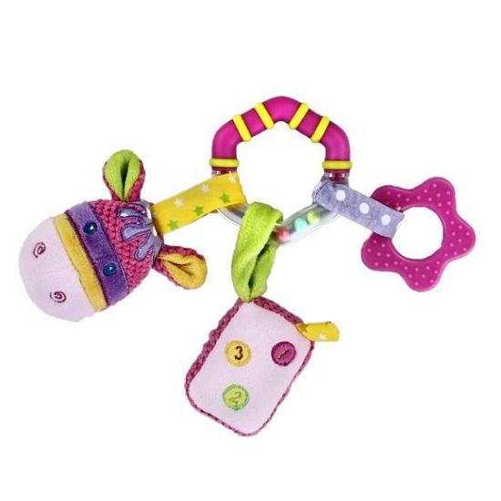 Подвесная игрушка Жирафики Коровка с погремушкой