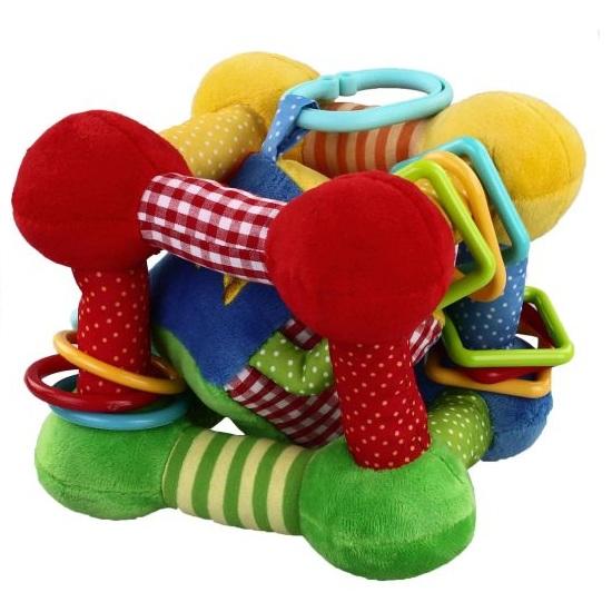 Подвесная игрушка Жирафики Кубик с игрушкой внутри