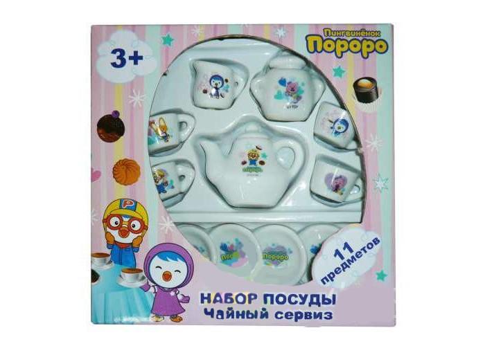 1 Toy Чайный сервиз Пингвиненок Пороро 11 предметовЧайный сервиз Пингвиненок Пороро 11 предметов1 Toy Чайный сервиз Пингвиненок Пороро 11 предметов позволит ребенку посидеть в компании своих игрушек за чашечкой чая.  Особенности: После такого чаепития все останутся довольны: и ребенок, и игрушки.  В набор входят 11 различных предметов чайного сервиза.  Каждый предмет из набора имеет белоснежную расцветку с изображением забавного пингвиненка.  Набор сделан из качественного материала, который визуально похож на керамику или фарфор.<br>