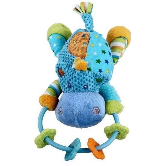 Погремушка Жирафики Бегемотик 93816Бегемотик 93816Погремушка Бегемотик Жирафики это яркая развивающая игрушка для малышей.    Особенности:    Она изготовлена из высококачественных материалов и выполнена в виде забавного бегемотика.   Благодаря небольшому колечку малыш легко сможет удерживать игрушку в своей маленькой ручке.   Данная погремушка способствует формированию представления о цветах и формах, а также развивает звуковое восприятие, мелкую моторику ручек и хватательные рефлексы.<br>