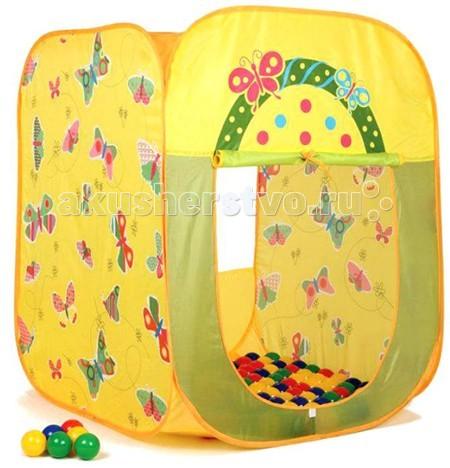 BabyOne Ching-Ching Дом + 100 шаров Бабочки (квадрат) 85х85х100