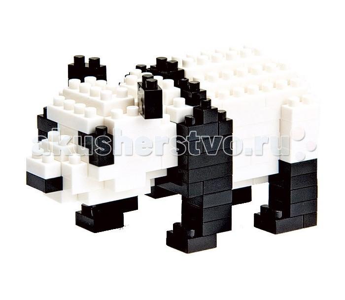 Конструктор Nanoblock Панда 150 элементовПанда 150 элементовNanoblock Панда 150 элементов  Микро-конструктор NanoBlock (Япония) - самый маленький в мире конструктор, крайне необычный, как все японское. Высокоточные трехмерные модели из деталей подобных Лего, но предельно уменьшенных в размерах, стали хитом в Японии и буквально произвели фурор в Америке, Европе, Азии и Австралии.   Самая маленькая деталь конструктора - 4 мм х 4 мм, а классический прямоугольный элемент 2-на-4 точки имеет размер 8 мм х 16 мм и 5 мм высотой. Запатентованный дизайн деталей и высочайшее качество пластика обеспечивают надежное соединение даже при таких небольших размерах. Нано-размер деталей позволяет добиться невероятной реалистичности у собранных конструкций.   В результате получаются небольшие по масштабу объекты невиданной точности.Конструктор продается в пакете или коробочке с заданным количеством деталей, необходимых для сборки объекта указанного на упаковке.Сборка одного объекта в среднем занимает от 10 минут до нескольких часов.<br>