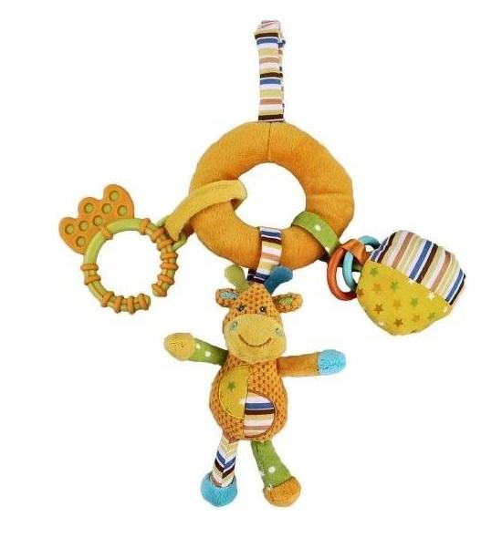 Подвесная игрушка Жирафики Жирафик 93827Жирафик 93827Развивающая игрушка Жирафик Жирафики - это забавная подвеска-погремушка, которая выполнена в ярких цветах.   Особенности:    Ее можно прикрепить как к коляске, так и к кроватке.   Подвеска изготовлена из качественных ярких материалов, которые абсолютно безопасны для здоровья ребенка и не вызывают аллергию.<br>