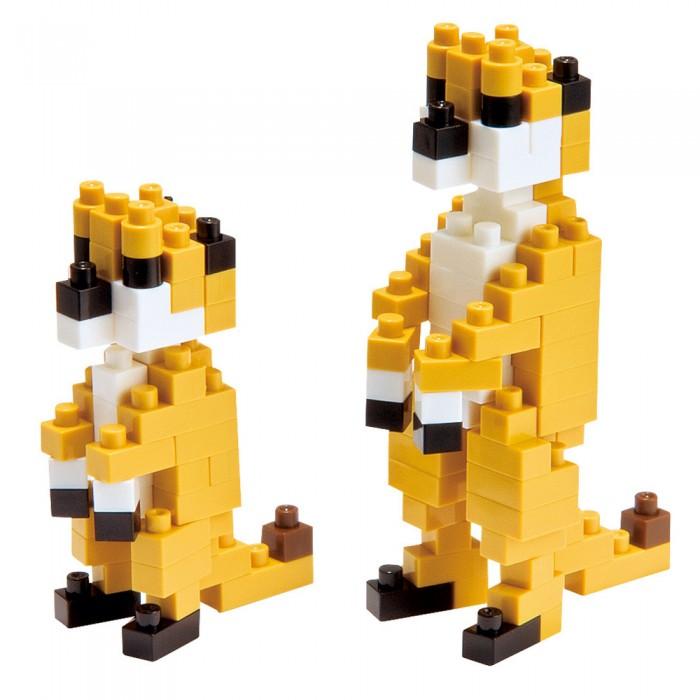 Конструктор Nanoblock Сурикаты 150 элементовСурикаты 150 элементовNanoblock Сурикаты 150 элементов  Микро-конструктор NanoBlock (Япония) - самый маленький в мире конструктор, крайне необычный, как все японское. Высокоточные трехмерные модели из деталей подобных Лего, но предельно уменьшенных в размерах, стали хитом в Японии и буквально произвели фурор в Америке, Европе, Азии и Австралии.   Самая маленькая деталь конструктора - 4 мм х 4 мм, а классический прямоугольный элемент 2-на-4 точки имеет размер 8 мм х 16 мм и 5 мм высотой. Запатентованный дизайн деталей и высочайшее качество пластика обеспечивают надежное соединение даже при таких небольших размерах. Нано-размер деталей позволяет добиться невероятной реалистичности у собранных конструкций.   В результате получаются небольшие по масштабу объекты невиданной точности.Конструктор продается в пакете или коробочке с заданным количеством деталей, необходимых для сборки объекта указанного на упаковке.Сборка одного объекта в среднем занимает от 10 минут до нескольких часов.<br>